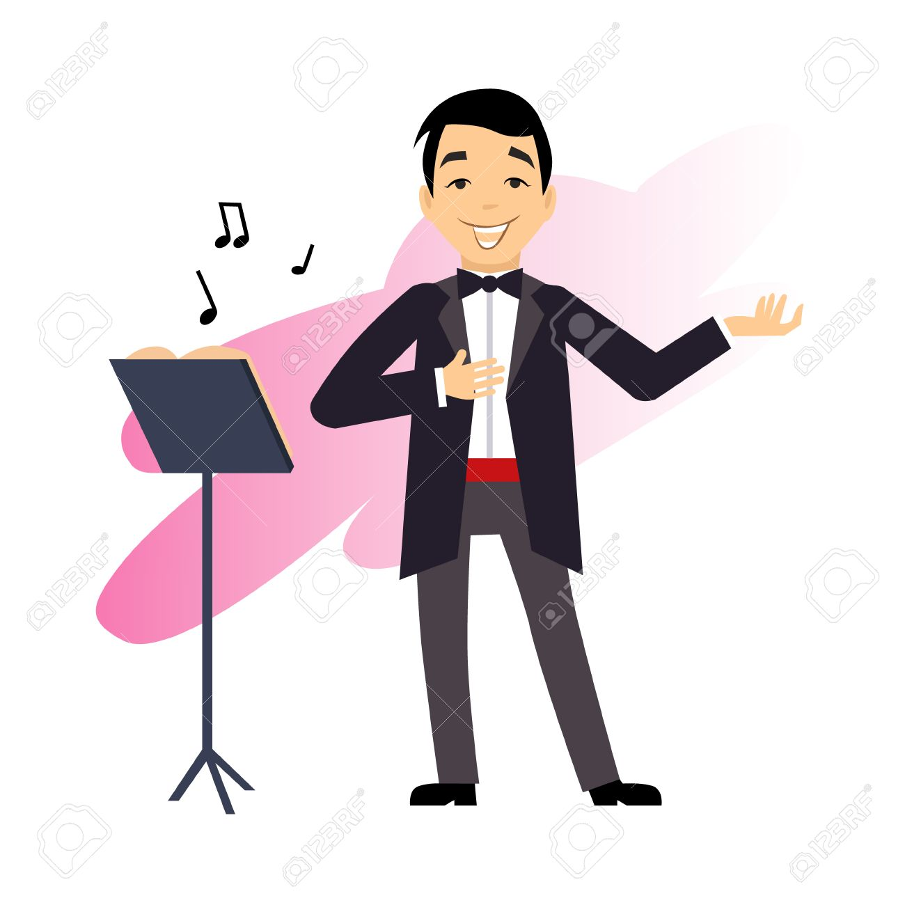 hight resolution of male opera singer vector illustration stock vector 41655232