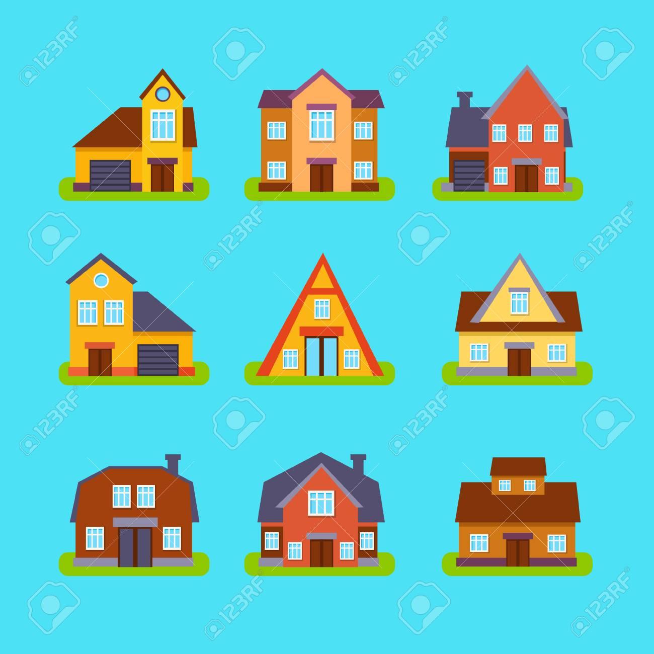suburban real estate houses