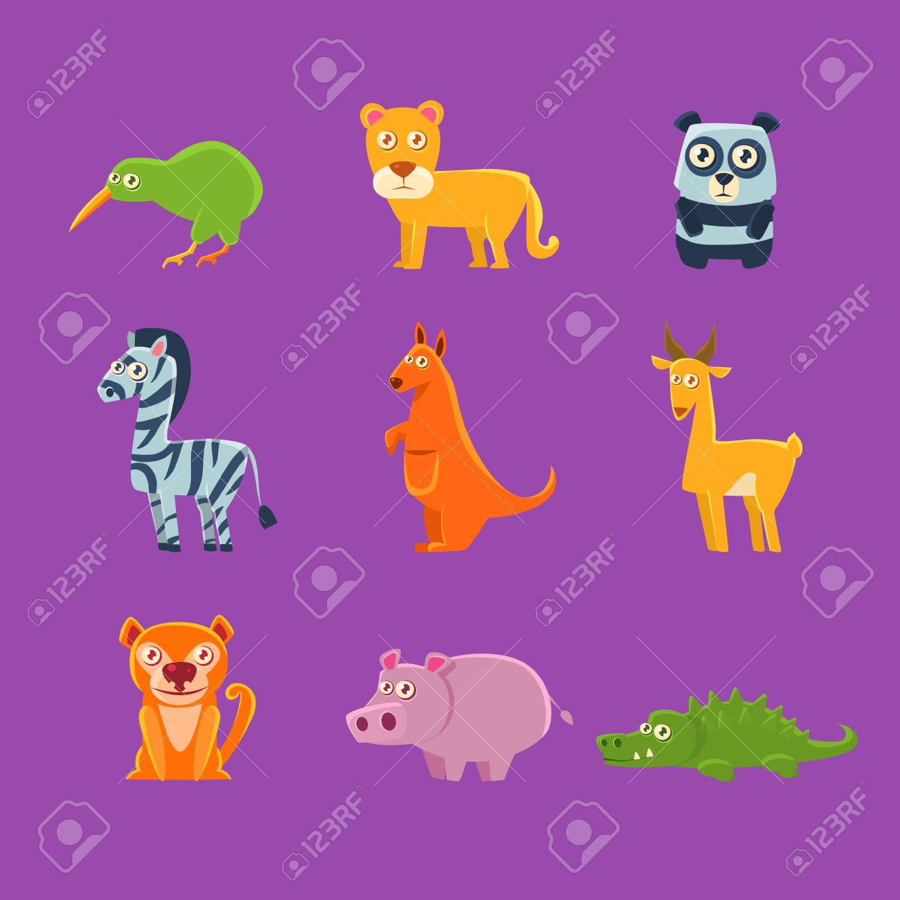 exotic animals fauna collection