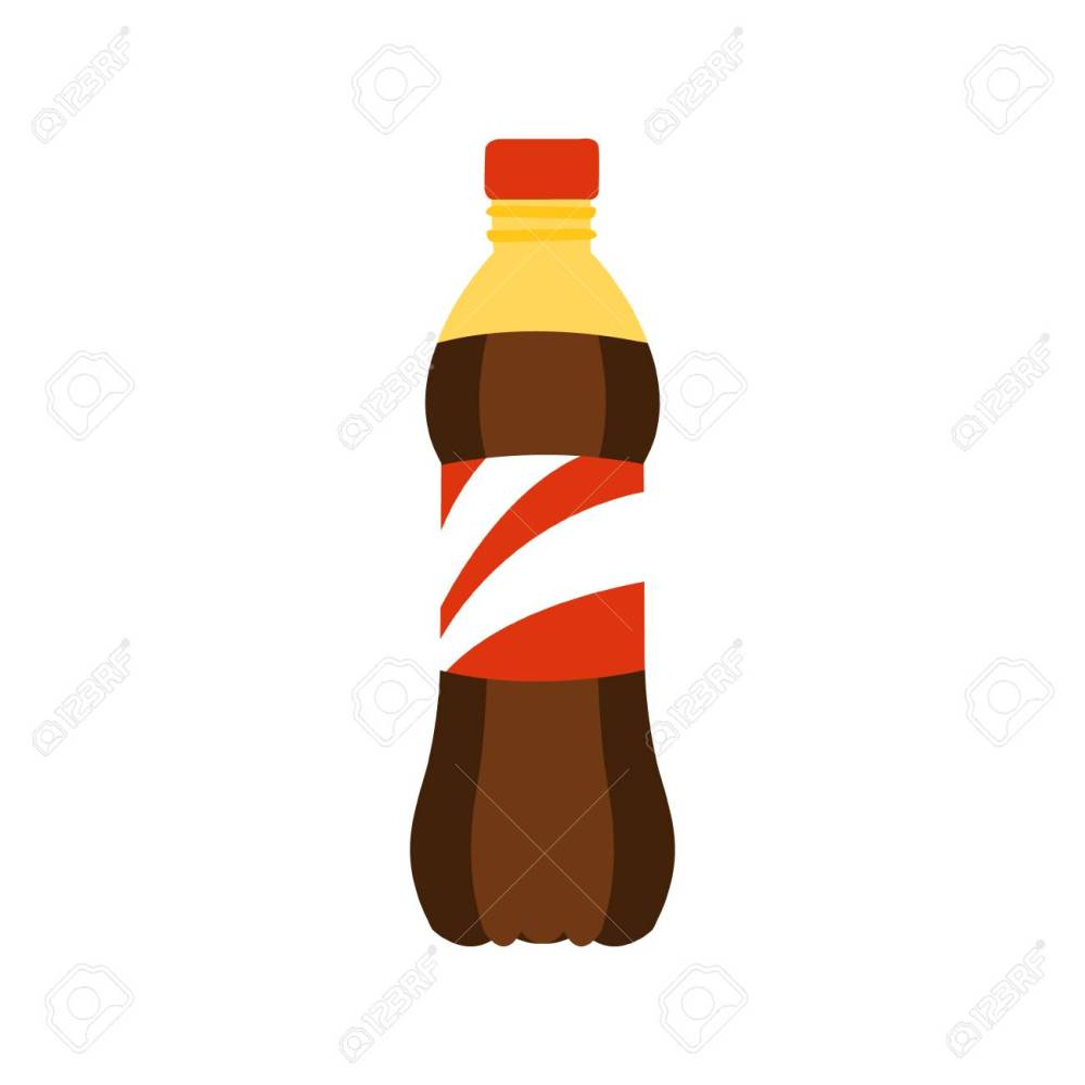 medium resolution of plastic bottle with sweet soda drink primitive cartoon icon part of pizza cafe series of