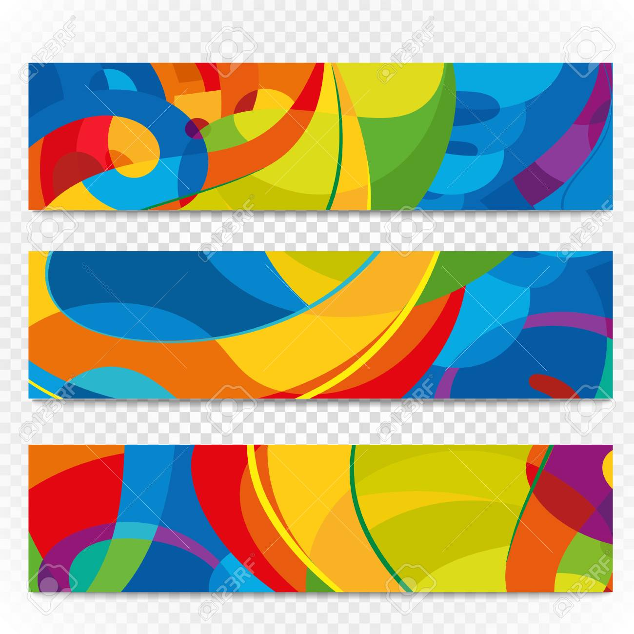 abstract colorful banners on