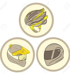 clipart with three helmets of safety in circles stock vector 52734242 [ 1300 x 1300 Pixel ]