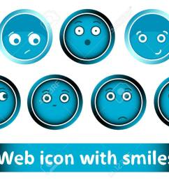 clipart with icons buttons of blue color with smiles stock vector 54292174 [ 1300 x 920 Pixel ]