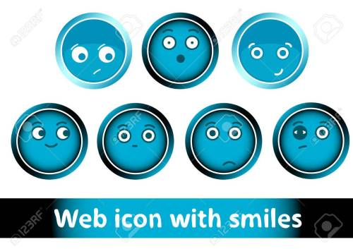 small resolution of clipart with icons buttons of blue color with smiles stock vector 54292174