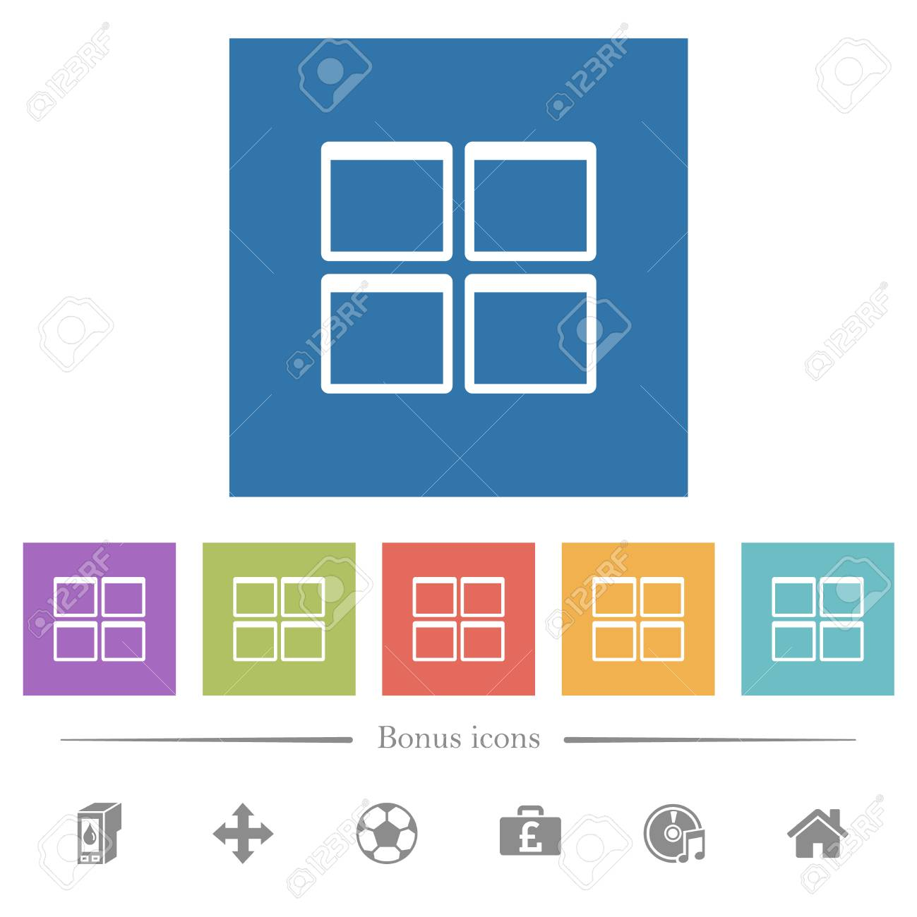 admin dashboard panels flat
