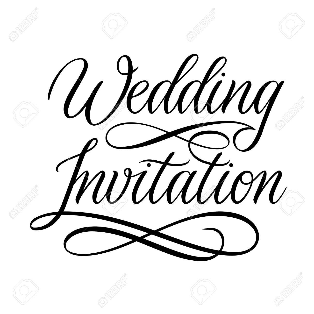 wedding invitation design black and