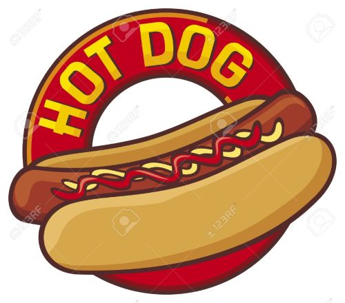 small resolution of hot dog stock vector 15412699