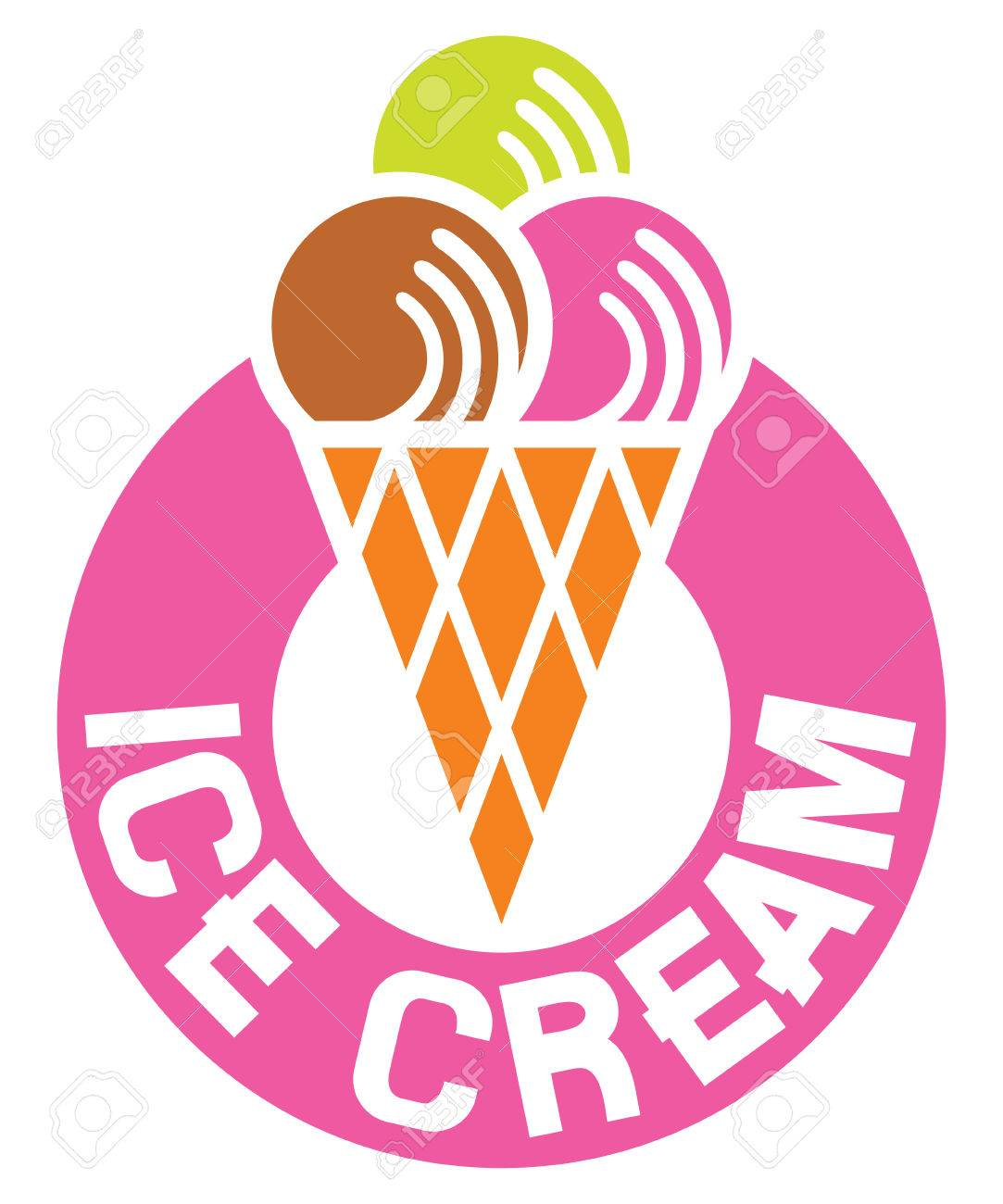 ice cream label ice