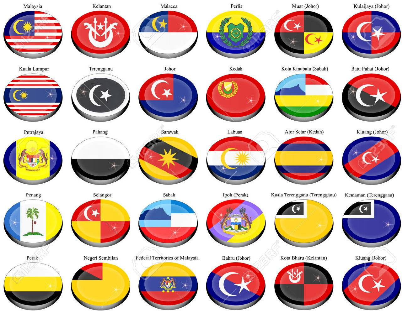 set of icons flags