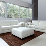 Modern Living Room Interior With White Furniture Stock Photo Picture And Royalty Free Image Image 12662148