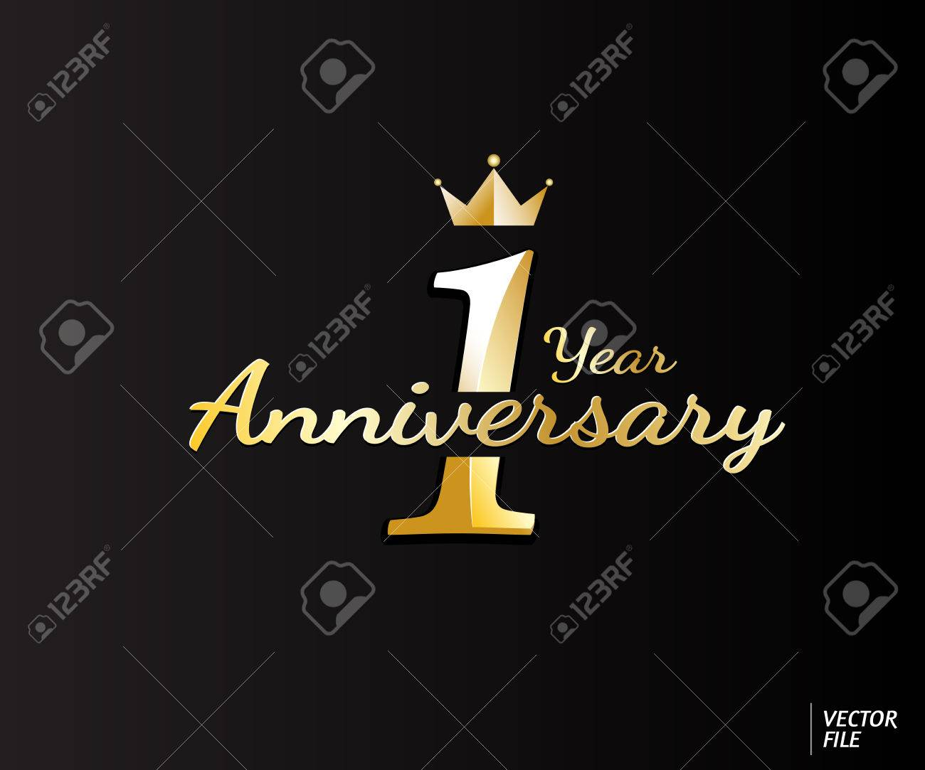 one year anniversary logo