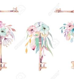 illustration isolated cute watercolor unicorn keys clipart with flowers nursery unicorns key illustration princess rainbow poster pink magical poster [ 1300 x 858 Pixel ]