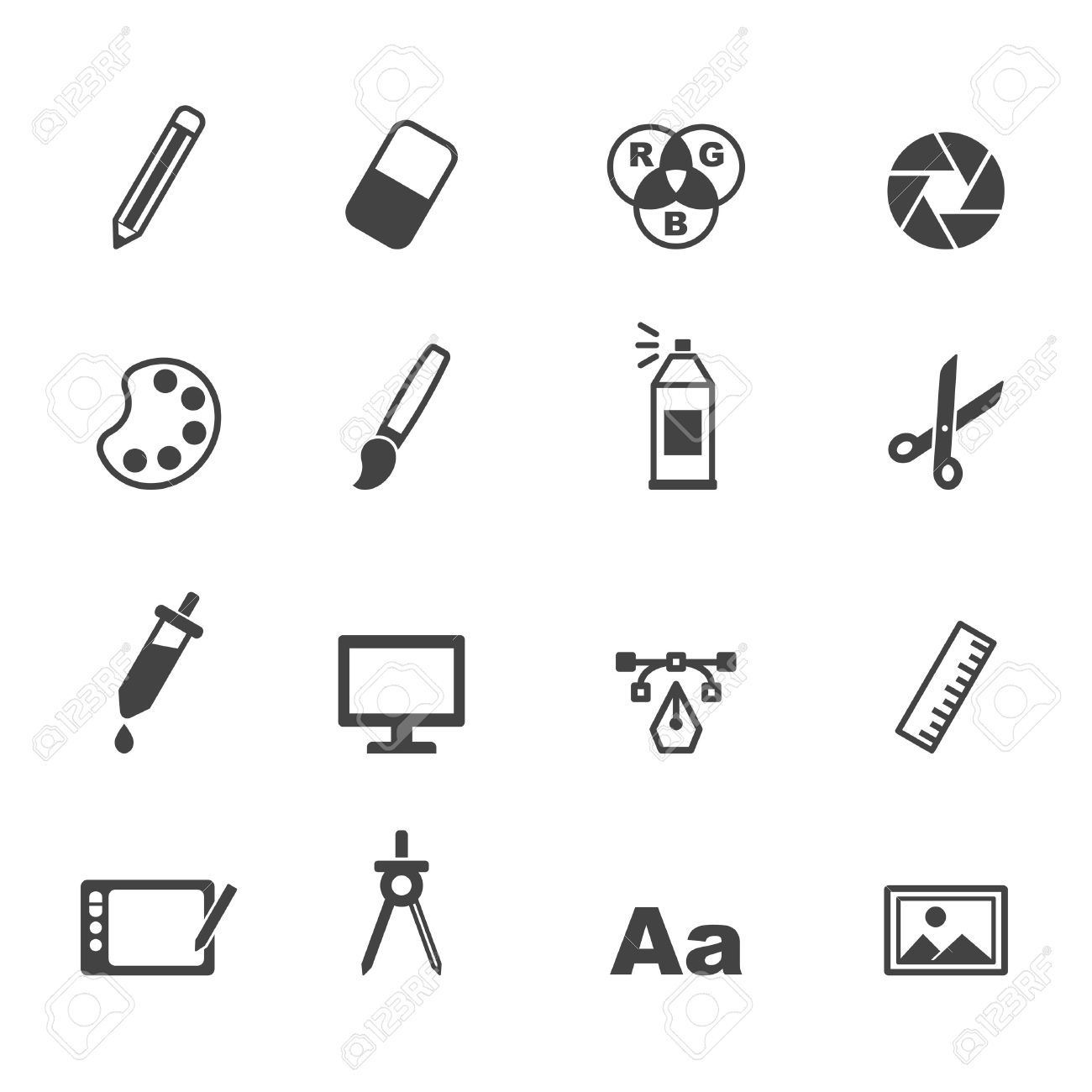 graphic design icons mono