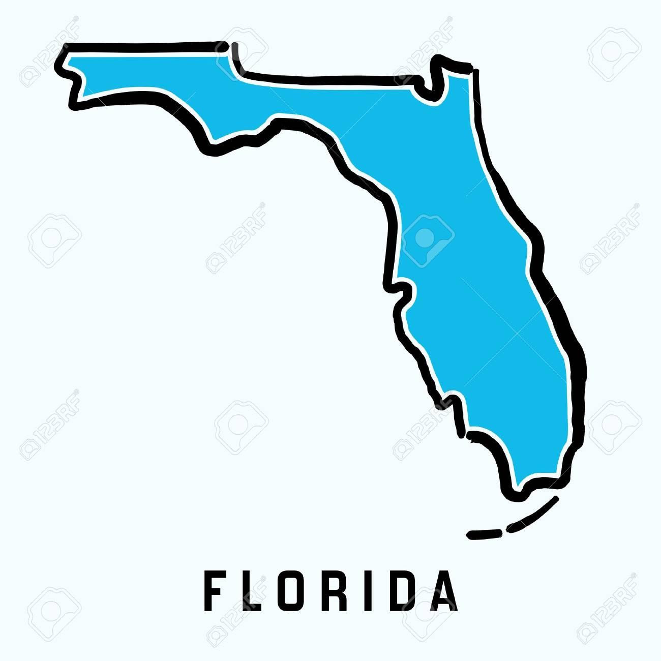 Learn how to write a will in florida, and what can happen if you don't have one. Florida Map Outline Smooth Simplified Us State Shape Map Vector Royalty Free Cliparts Vectors And Stock Illustration Image 88224157