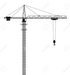 tower crane vector shape isolated on white background stock vector 49989988 [ 1300 x 1300 Pixel ]