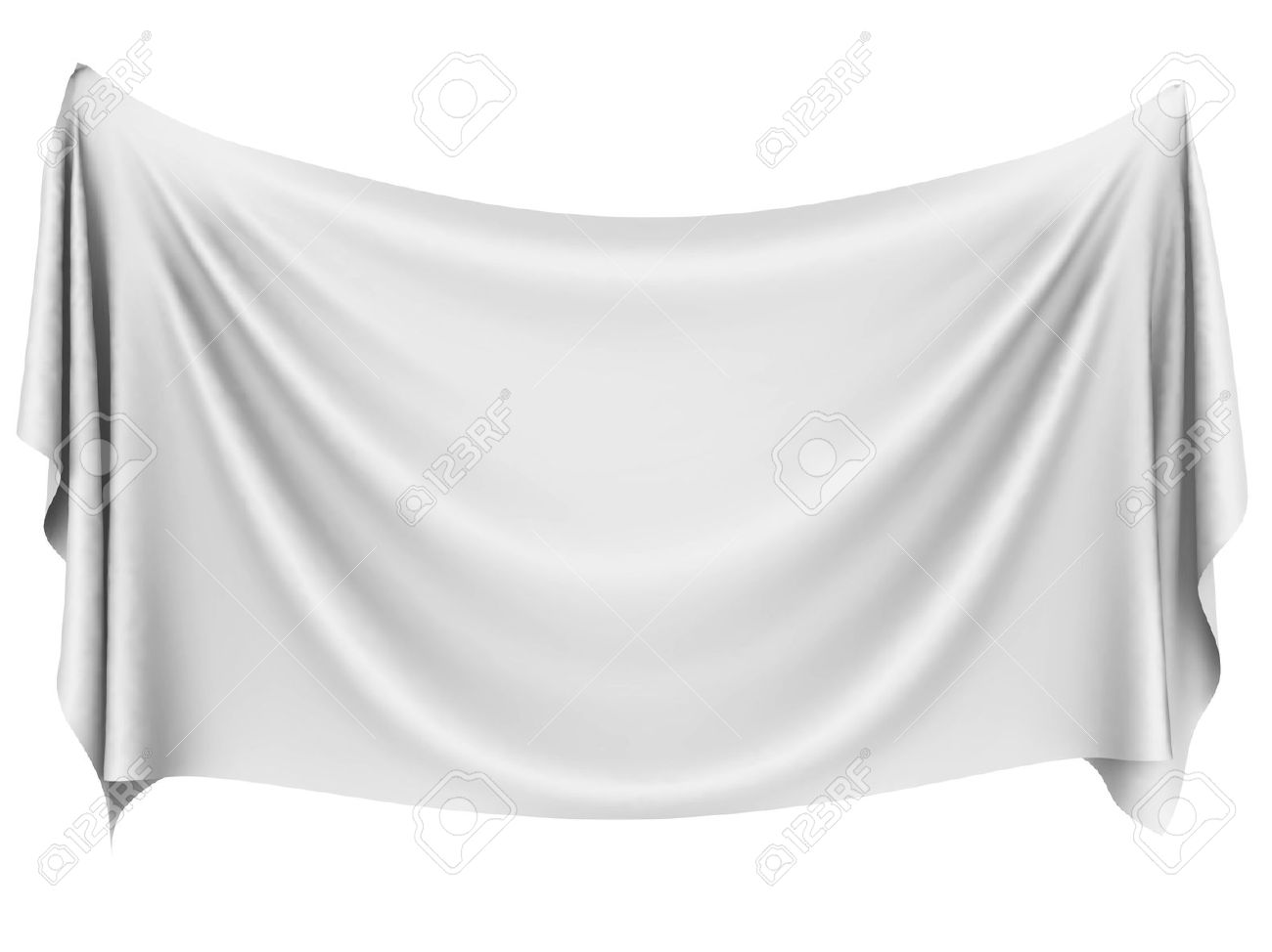 blank white hanging cloth