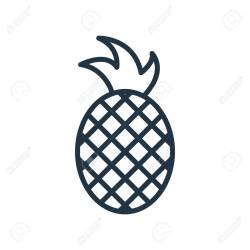 Pineapple Icon Vector Isolated On White Background Pineapple Royalty Free Cliparts Vectors And Stock Illustration Image 107132035