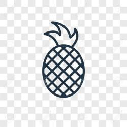 Pineapple Vector Icon Isolated On Transparent Background Pineapple Royalty Free Cliparts Vectors And Stock Illustration Image 107158577