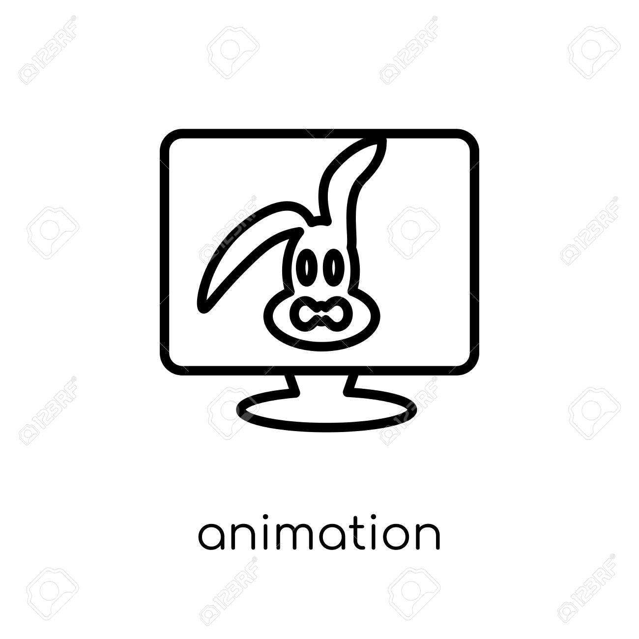 animation icon trendy modern