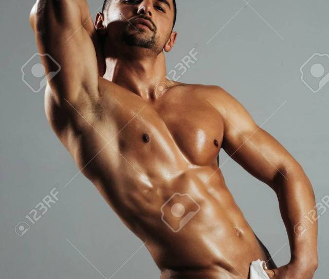 Handsome Nude Man Or Muscular Bodybuilder Macho With Sexy