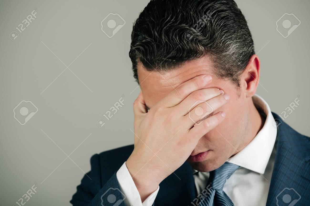 unhappy man handsome businessman