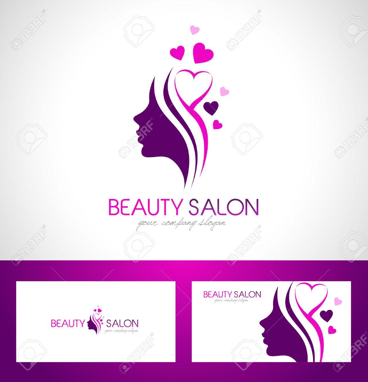 beauty female face logo