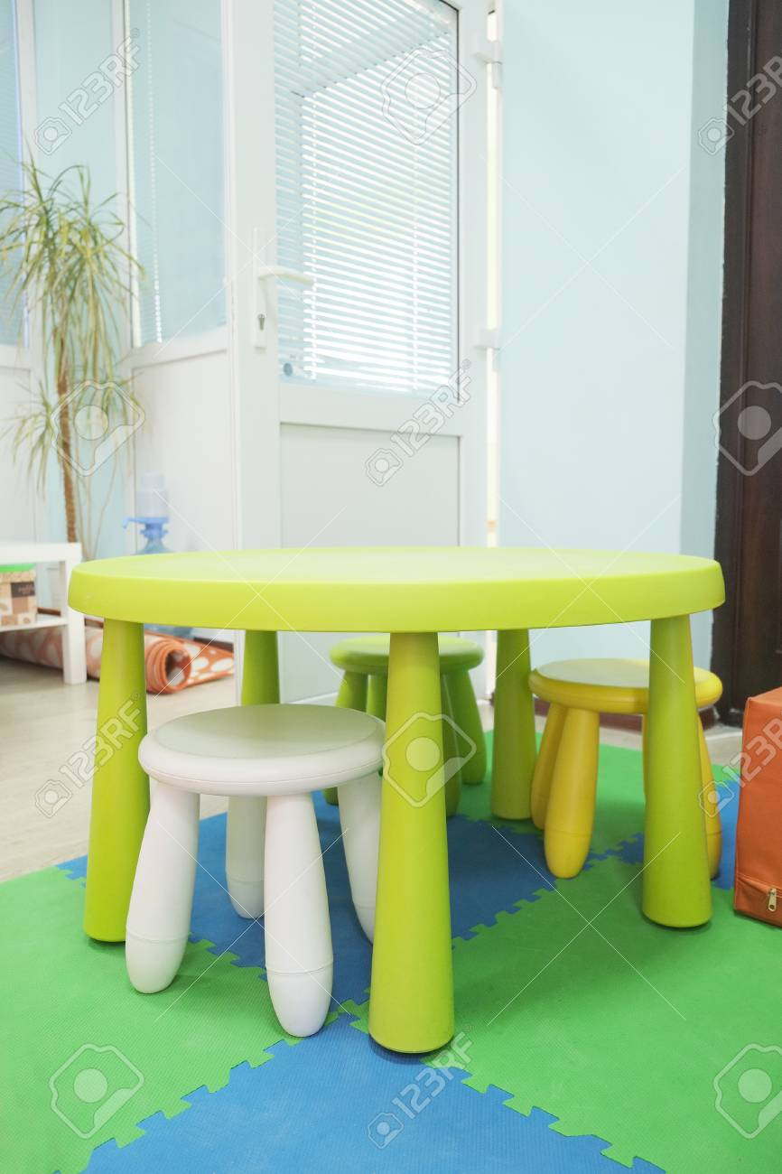 plastic kid chairs chair design blog colorful and table stock photo picture 42014812