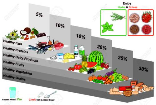 small resolution of healthy food pyramid infographic chart nutrition balance and with all groups grains vegetables fruits dairy milk