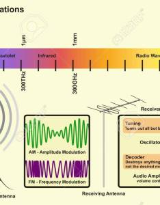 Electromagnetic spectrum sources infographic diagram with radiations of gamma ray xray ultraviolet infrared radio waves wavelength also rh rf