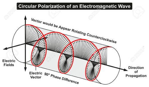 small resolution of circular polarization of an electromagnetic light wave infographic diagram showing electric fields phase difference direction of