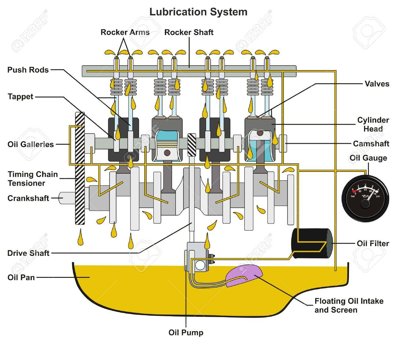 hight resolution of vehicle lubrication system infographic diagram showing cross car engine oil diagram car oil diagram