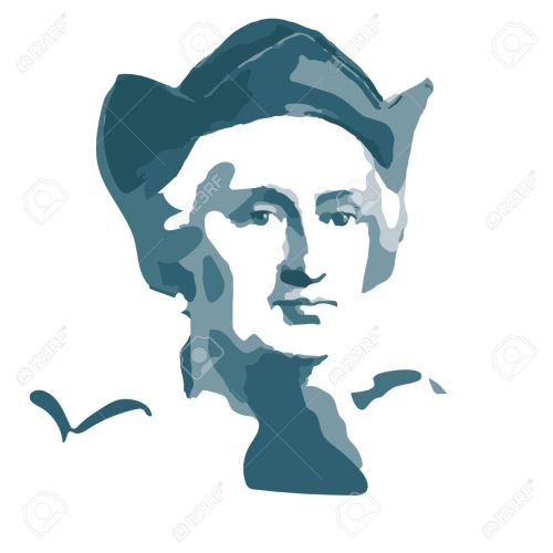 small resolution of portrait of christopher columbus spanish sailor and traveler stock vector 58036687