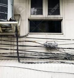 crazy wiring in bangkok stock photo 2575542 [ 1300 x 866 Pixel ]