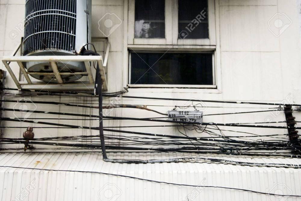 medium resolution of crazy wiring in bangkok stock photo 2575542