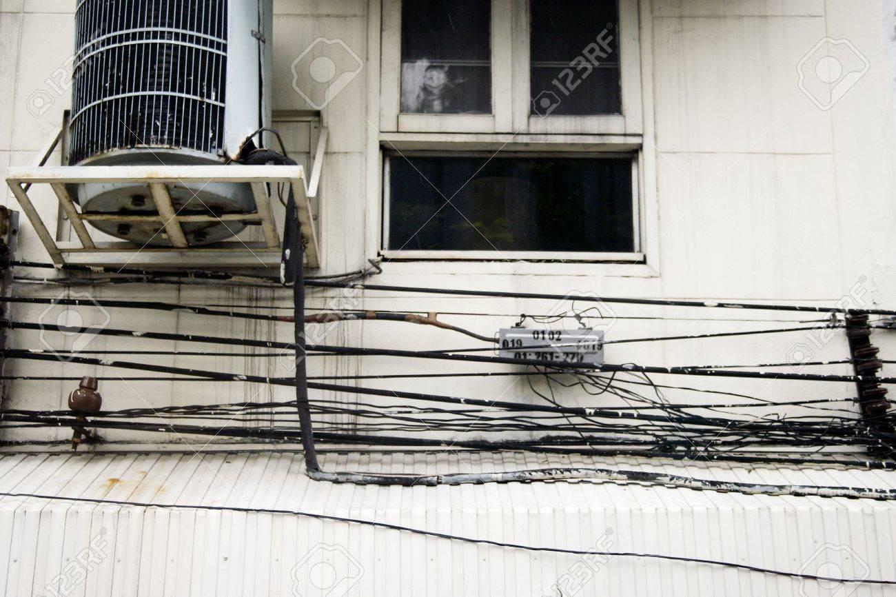 hight resolution of crazy wiring in bangkok stock photo 2575542