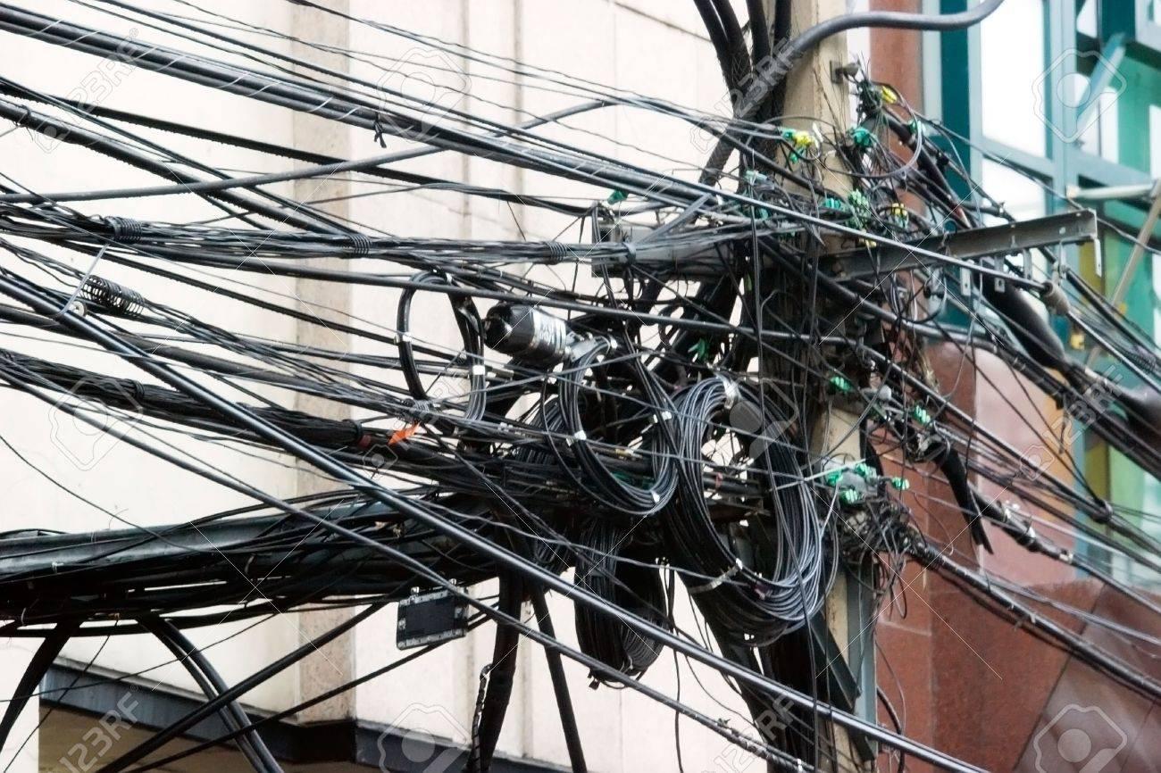 hight resolution of crazy wiring in bangkok stock photo 2575567