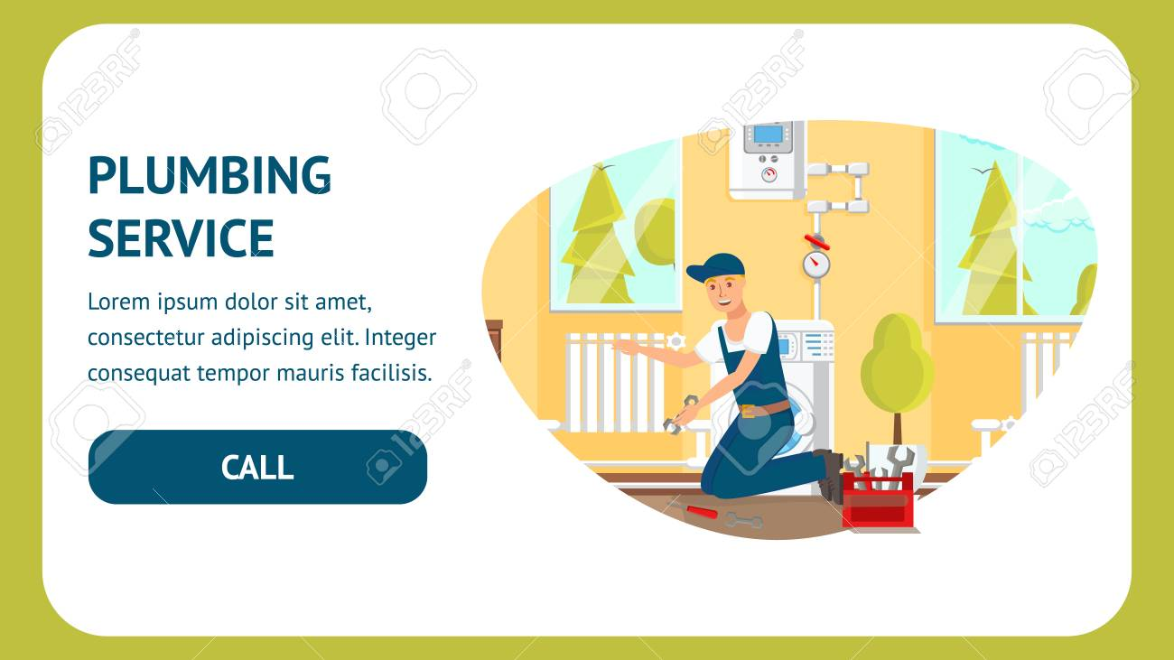 A plumber isn't obliged to tell you it's an easy fix.but more often than not you can fix plumbing problems on your own to save on plumber work. Plumbing Service Website Vector Template Plumber Cartoon Character Royalty Free Cliparts Vectors And Stock Illustration Image 125209049