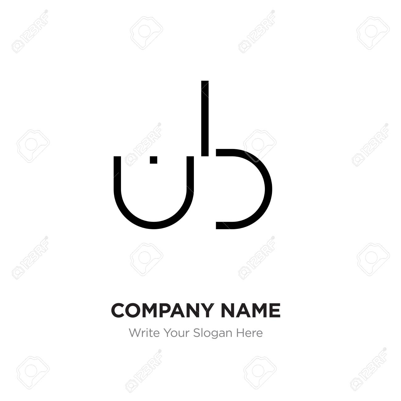 abstract letter bu ub
