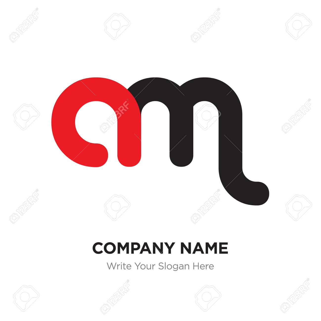 abstract letter am logo