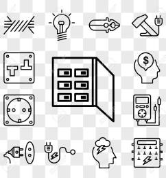 set of 13 transparent editable icons such as fuse box storm fuse box icons [ 1300 x 1300 Pixel ]