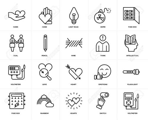 small resolution of set of 20 icons such as voltmeter switch hearts rainbow fuse box