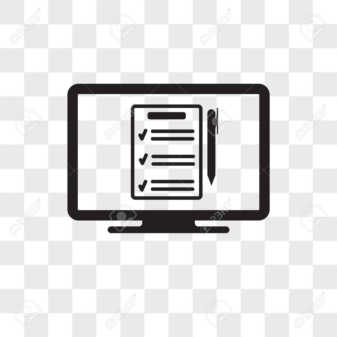 Online Form Vector Icon Isolated On Transparent Background Online Royalty Free Cliparts Vectors And Stock Illustration Image 109130212