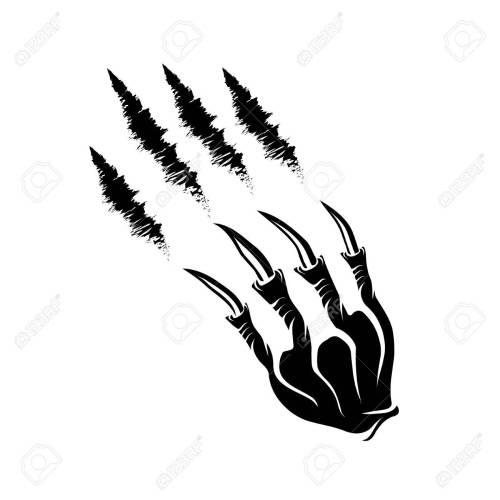 small resolution of monster claws and claws marks stock vector 37094986