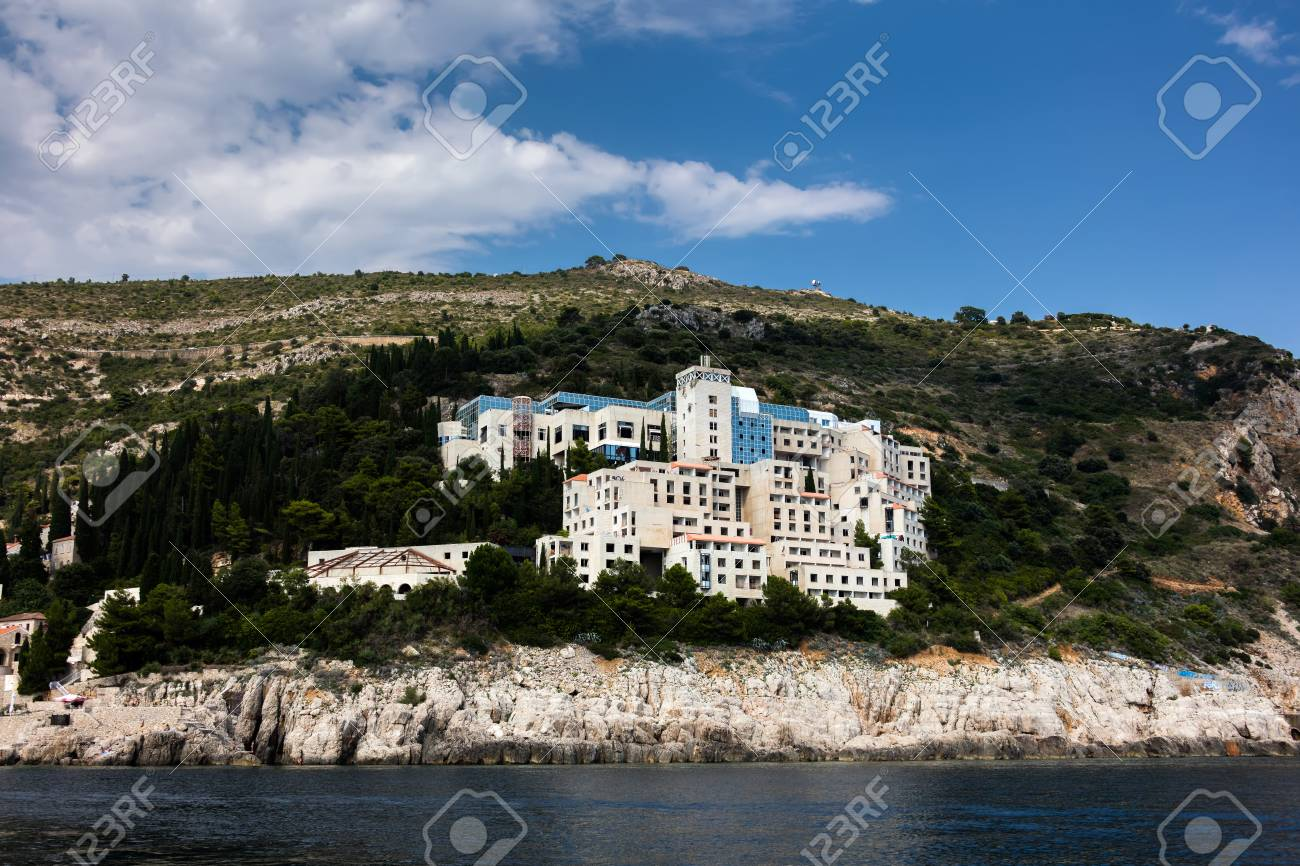 Dubrovnik Croatia July 31 2018 Abandoned 5 Star Hotel Belvedere