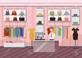 Fashion Shop Super Market Female Clothes Shopping Mall Interior Stock Photo Picture And Royalty Free Image Image 98720114