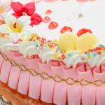 Easter Cake With Pink Decorations