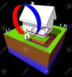 air source heat pump diagram stock vector 9035807 [ 1300 x 1300 Pixel ]