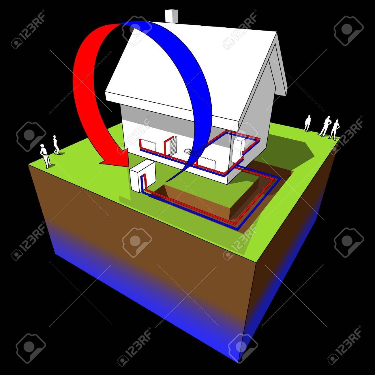 hight resolution of air source heat pump diagram stock vector 9035807
