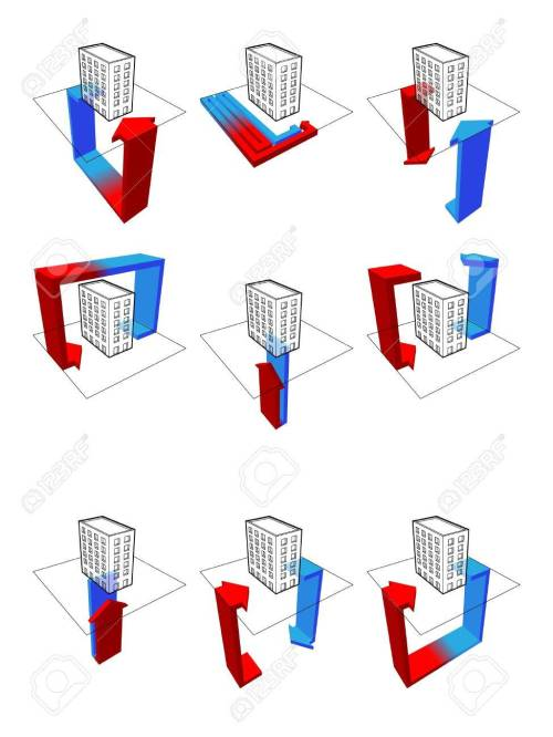 small resolution of collection of nine heat pump diagrams on example of a apartment house showing possibilities of