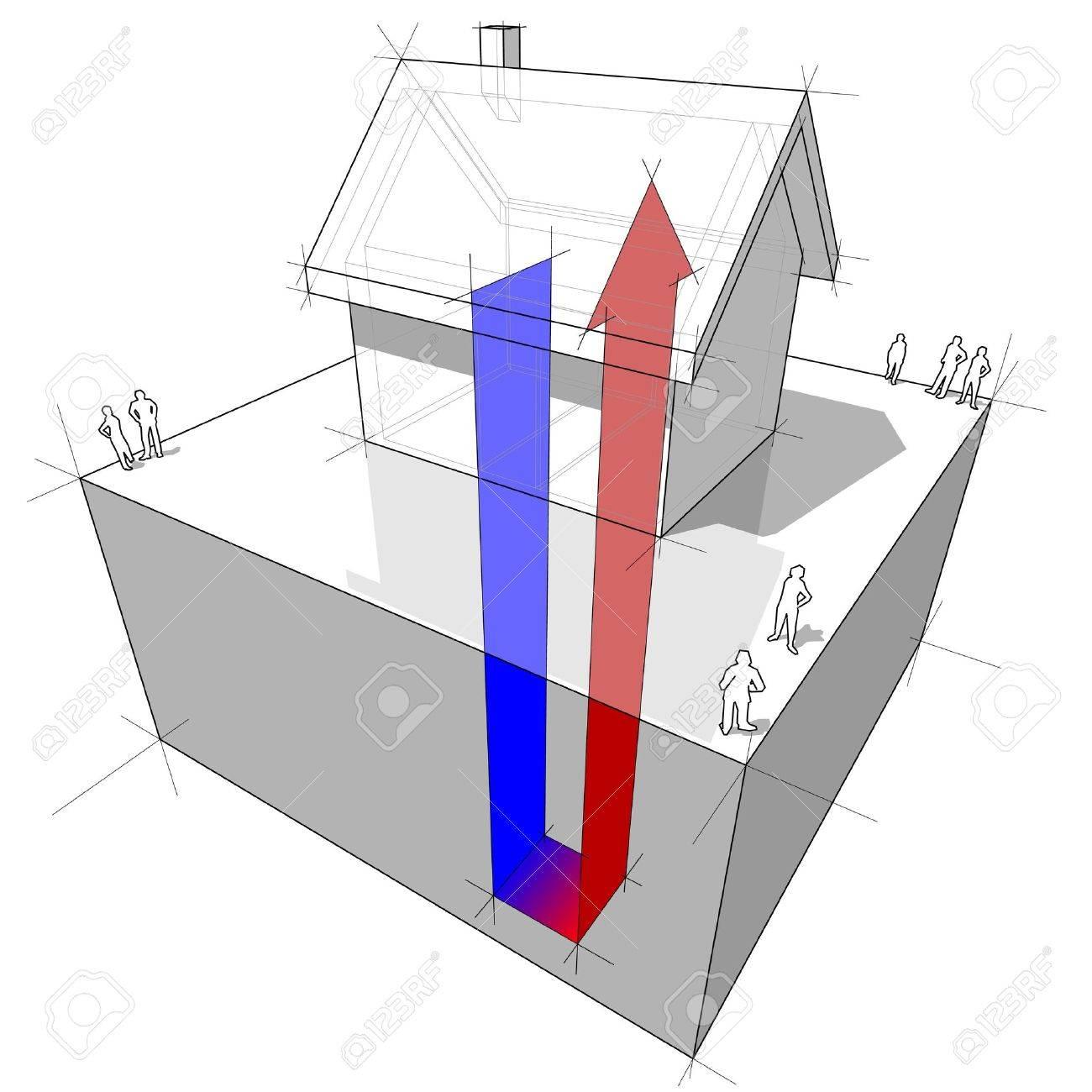 hight resolution of geothermal heat pump diagram stock vector 9930070